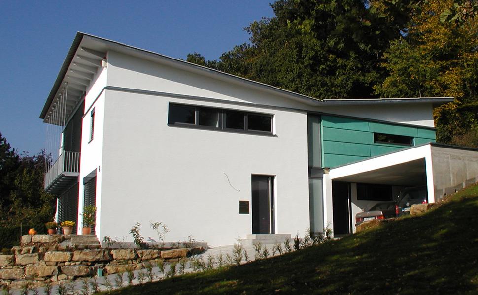 Wohnhaus Schuller - Niedrigenergiehaus in Massivbauweise