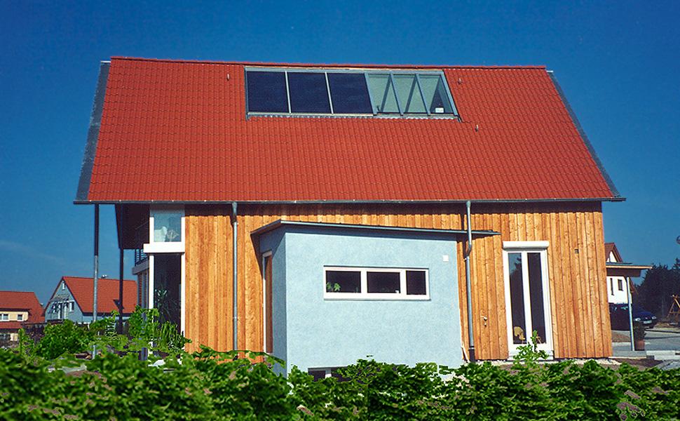 Wohnhaus Beyer - Niedrigenergiehaus in Holzbauweise