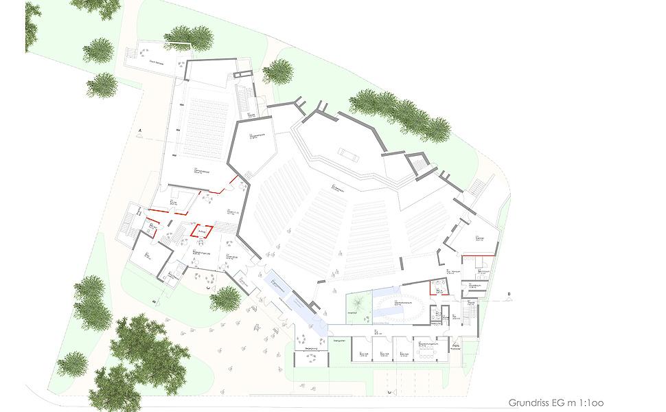 Modernisierung und Umstrukturierung des katholischen Gemeindezentrums mit Pfarrkirche St. Maria in Aalen